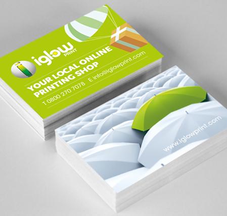 Standard business cards iglow print iglow print refer a friend reheart Choice Image